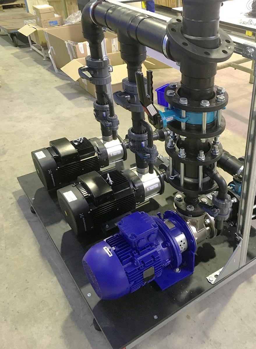 Vormontage Pumpgestell